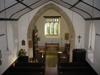 Interior view of St. Mary's Church from the gallery at the west end